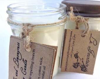 Citronella Lemongrass Soy Candles - Insect Repellent Candle