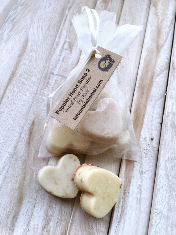 Stocking Stuffers-Organic Soap-Kids Popular Heart Soaps