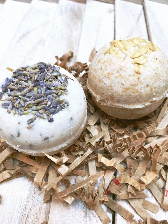 Organic Bath Bombs|2 Bath Bombs with Essential Oils