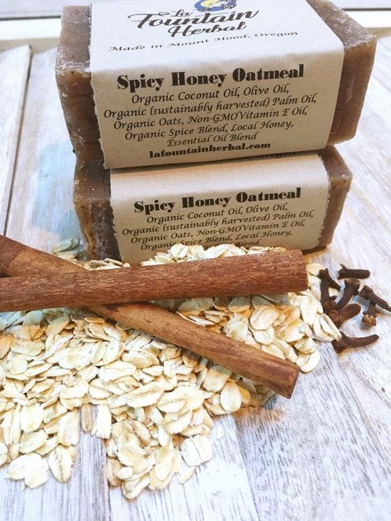 Spicy Honey Oatmeal Soap - Organic Soap