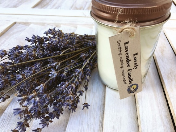 Lavender Candle Soy Candle Container Candles