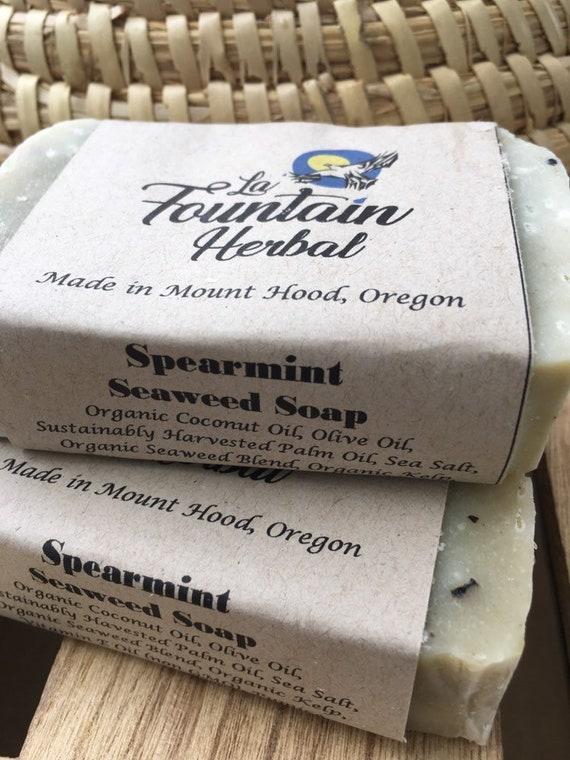 Spearmint Seaweed Soap- Organic Soap