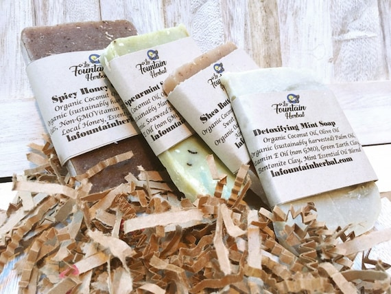 Organic Soap Gift Set - 6 Soap Bars
