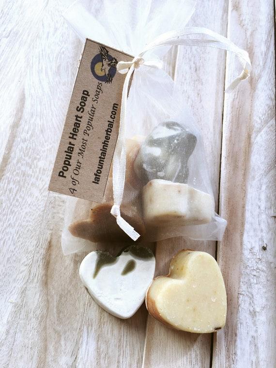 Popular Heart Soap - 4 Heart Soaps - Gift Soap