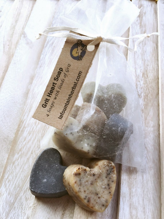 Grit Heart Soaps - 4 Organic Soaps