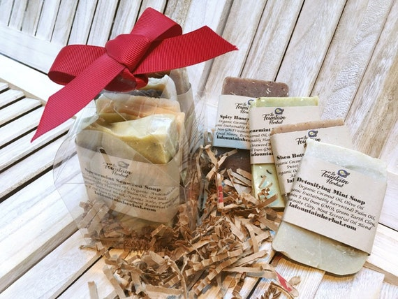 Organic Soap Gift Set|6 Soap Sample Bars Custom