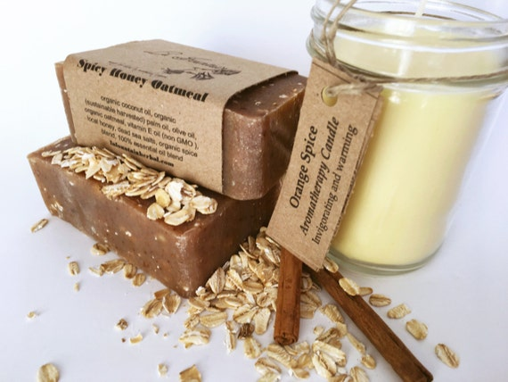 Gift Set - Spicy Candle and Soap- Organic Gift Sets