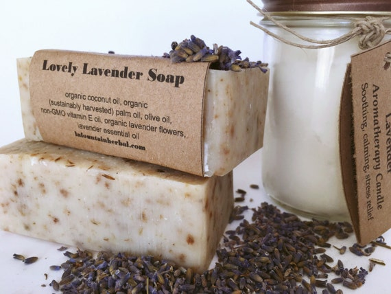 Organic Gift Set-Lavender-Candle and Soap