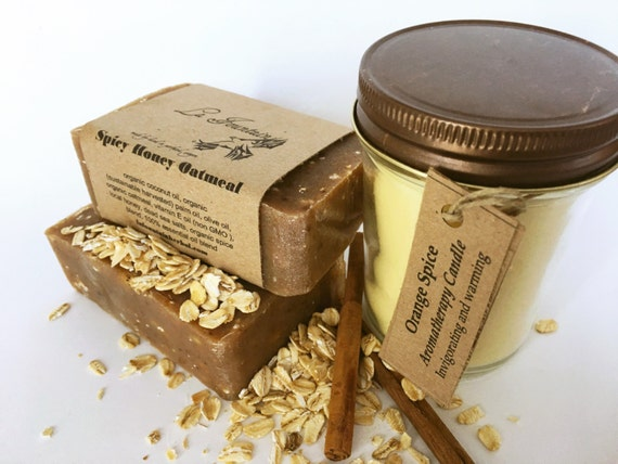 Organic Gift Set-Spicy-Candle and Soap