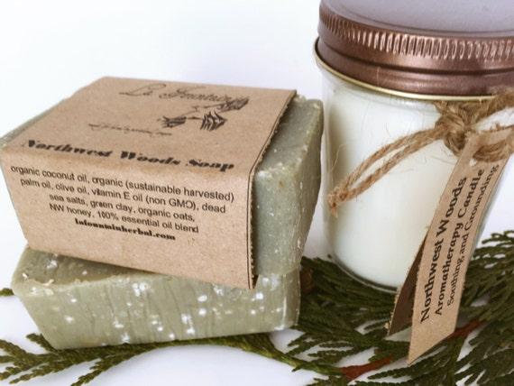 Organic Gift Set-Northwest-Candle and Soap