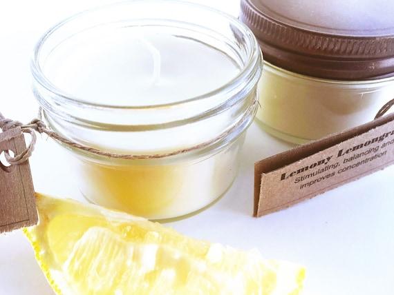 Lemony Lemongrass Soy Candles - Handmade Candles