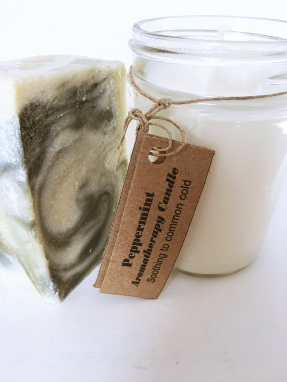 Gift Set - Vanilla Mint Candle and Mint Soap - Gift Sets