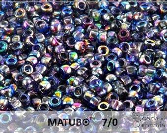 10 g Magic Blue Czech MATUBO Seed Beads 7/0 (8792)
