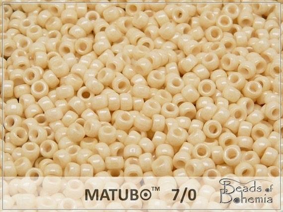 10grams MATUBO 8//0 Czech Seed Beads White Luster