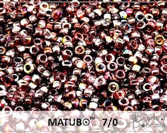 10 g Magic Wine Czech MATUBO Seed Beads 7/0 (8793)