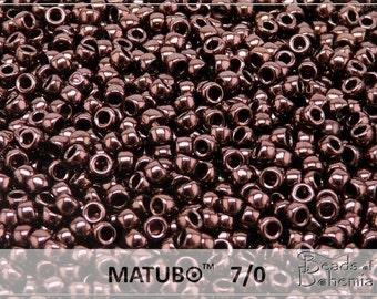 10 g Metallic Chocolate Czech MATUBO Seed Beads 7/0 (8597)