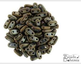 50 pcs Metallic Iris Brown CzechMates Bar Beads 6x3 mm (9297)
