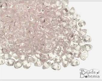 Transparent Light Rosaline Czech Preciosa TWIN Pressed Beads 3x5 mm, 20 g (7164)