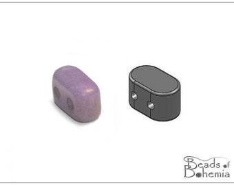 5 g IOS par Puca Antique Blueberry, 2-Hole Beads 5,5x2,5 mm (10895)