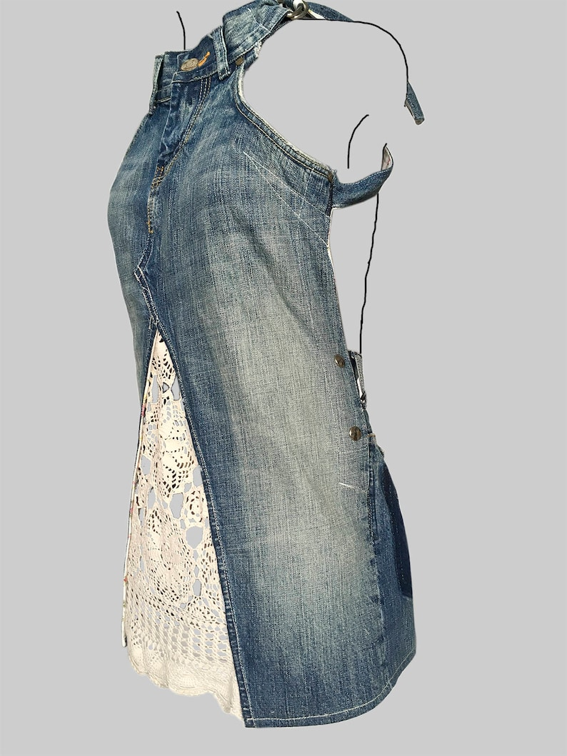 Cocktailjurk A Lijn.Jeans Dokjurk Loose Fit A Lijn Vorm Jurk Etsy
