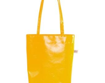 mini shopper bags made of truck tarp in various colors
