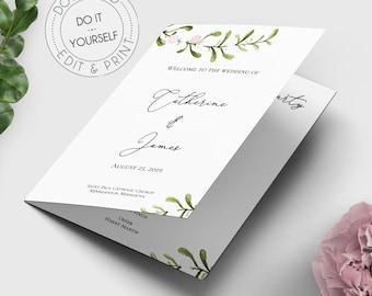 Wedding Reception Program Template Wedding Party Ceremony Etsy