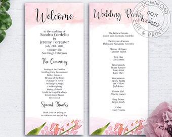greenery wedding program booklet floral wedding program etsy