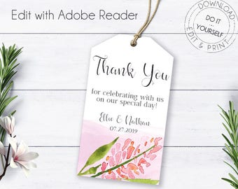 Whimsical favor tags etsy whimsical wedding thank you printable wedding wedding favor tags thank yout tag editable gift tags diy labels editable thank you solutioingenieria Choice Image