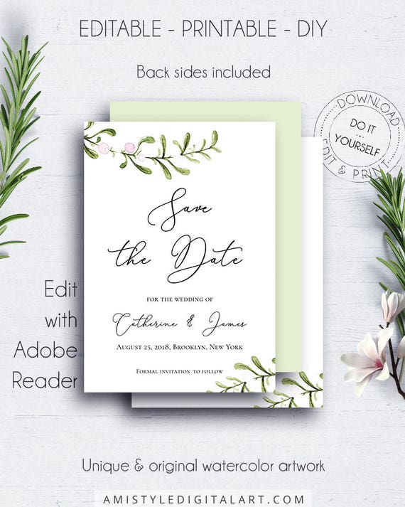Winter Wedding Save Date Invitation Engagement Save The Etsy