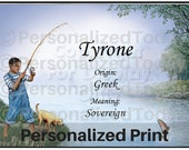 items similar to fishing name meaning origin print name tyrone or