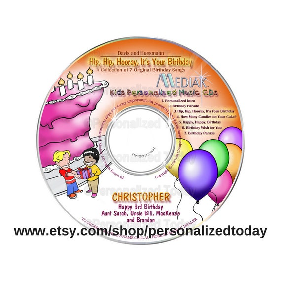 Hip Hooray Its Your Birthday Name Personalized Music