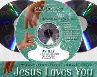 Jesus Loves You Christian Religious Name Personalized Music CD For Kids Sing Your Name Children's Songs Custom Made To Order Mediak