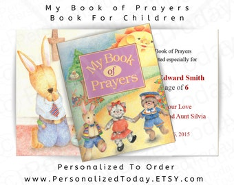 Prayer Book My Book of Prayers Children's Custom Name Personalized Educational Prayer Book Christian Religious Fiction Ages 2 to 11 Create A
