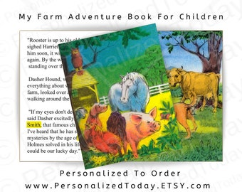 My Farm Adventure Personalized Book Hardcover Children's Fiction For Boys and Girls Ages 4 to 9