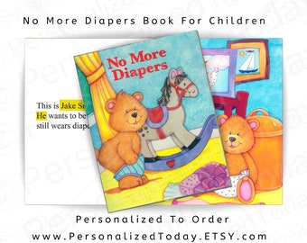 Potty Training Book No More Diapers Custom Name Personalized Children's Potty Training Educational Kid's Storybook Fiction Story Ages 2 to 4