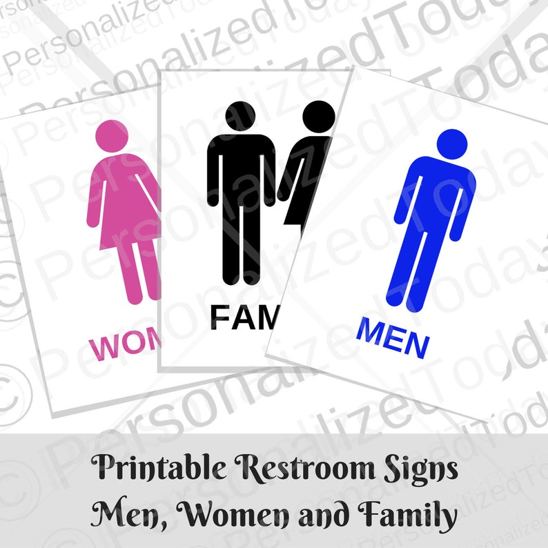 image regarding Printable Employees Only Sign named Rest room Doorway Restroom Printable Symptoms Guys Gals and Household With Reward Personnel Simply and Restroom Out of Purchase Printable Indications