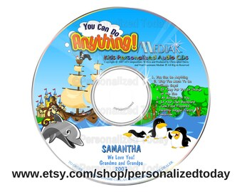You Can Do Anything Name Personalized Music CD For Children Sing Along Sing Your Name Kids Songs Custom Made For Your Child Character Lesson
