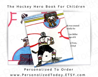 Personalized Hockey Book For Boys & Girls Ages 5 - 12 The Hockey Hero Hardcover Children's Fiction