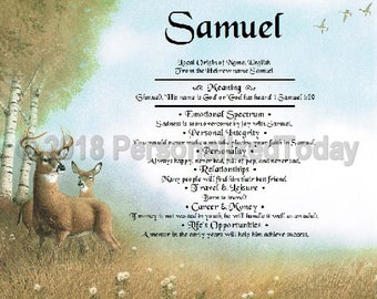 Deer Name Meaning Origin Print Name Personalized 8.5 x 11 Nature Custom Name Wildlife Art Decor Wild Animals Woodland Forest Meadow Outdoors