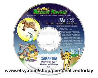 Fun Time Nursery Rhymes Name Personalized Music CD Children Sing Along Sing Your Name Kids Songs Custom Made For Your Child Educational Gift