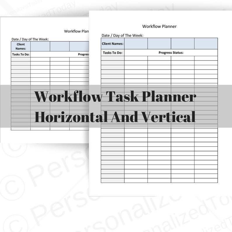 picture about Time Management Printable identified as Season Handle Workflow Process Planner Printable Prompt Electronic Obtain Find the money for and Set up Many Projects, Customers and Enhancements upon 1 Web site