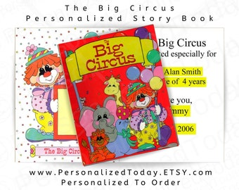 Personalized Book The Big Circus Color Illustrated Children's Fiction Gender Neutral Ages 3 to 8