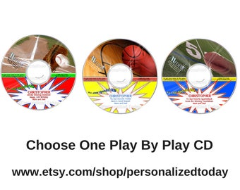 Sports CD Choose One (1) Baseball, Basketball or Football Simulated Play By Play of Pro Game Announcer Audio CD Mediak For Boys or Girls