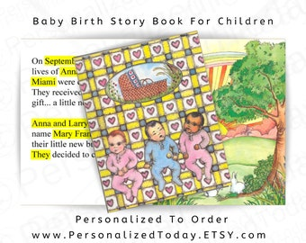 Baby Book Personalized Children's Story Baby Boy Girl Hospital Record Custom Keepsake Unique Newborn Birth Parents Gift Baby's Create A Book