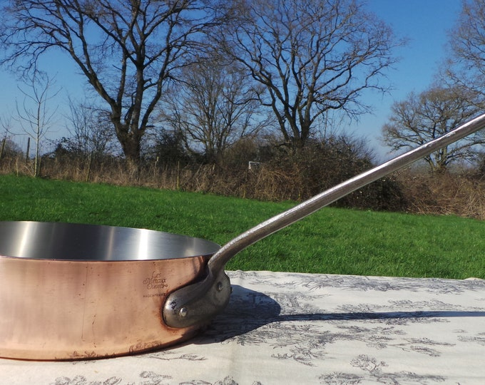 Copper Pan Metaux Ouvres 2mm Made in France French Stainless Steel Pan Copper Fry Saute Cast Iron Handle Steel Rivets Steel Lined
