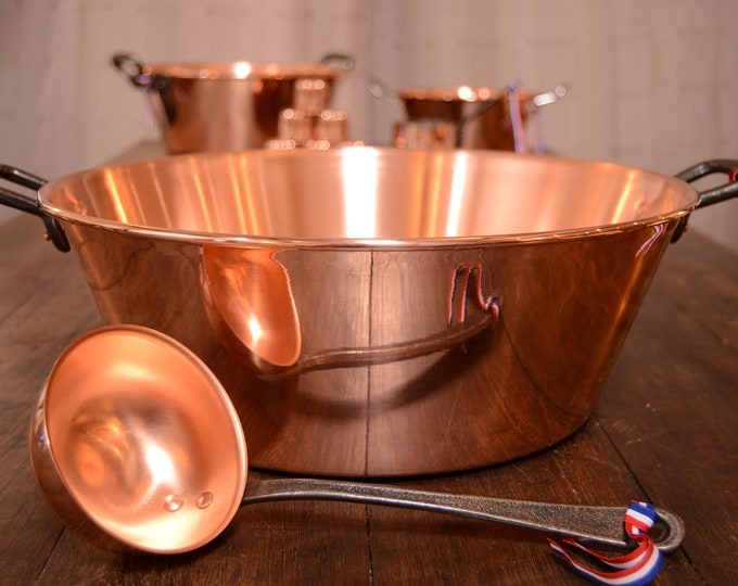New NKC 38cm Copper Jam Pan from Normandy Kitchen Copper Jam Jelly Pan 15 Inch Rolled Top Iron Handles Ladle New Normandy Kitchen Copper Pot