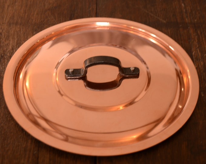 "New NKC 18cm Normandy Kitchen Copper Pan Lid Made in France Fitted Copper Pan Lid for 18cm Pan Quality 7"" Iron Handle Tin Lined New Copper"