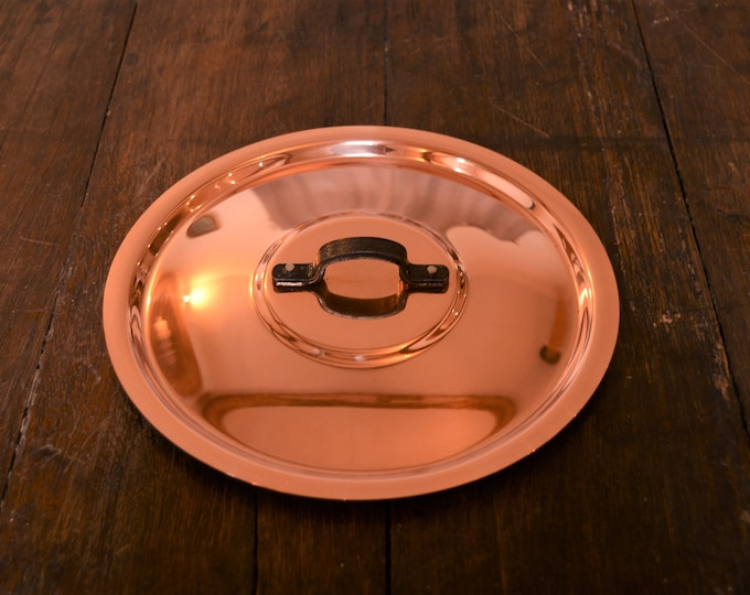 "New NKC 20cm Normandy Kitchen Copper Pan Lid Made in France Fitted Copper Pan Lid for 20cm Pan Quality 8"" Iron Handle Tin Lined New Copper"