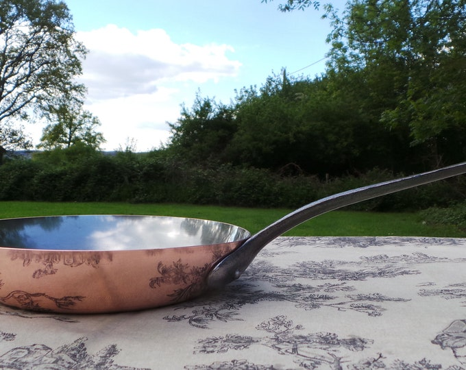 Celia 1.5mm Copper Frying Saute Skillet Copper Pan Vintage Copper Kitchen Staple Beautiful Condition 8.25 in 21Cm Lovely Frying Pan Skillet