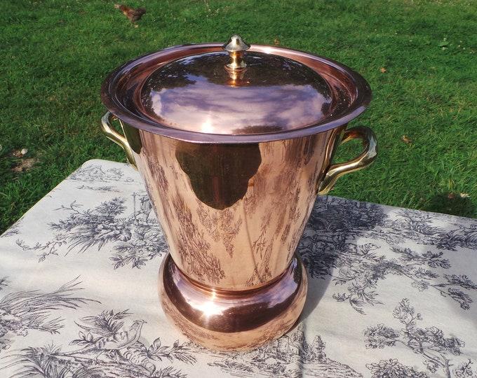 Vintage French Copper Unmarked Mauviel Potato Steamer Copper Pan Marmite Good Tin Refurbished Copper Pot Normandy Kitchen Pomme Vapeur